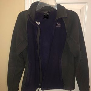 Women's Purple and Gray North Face Jacket